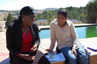 Practice interview, Swaziland, 2011 (S. Warrington)