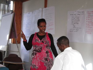 role play activity, oral testimony workshop, Ethiopia